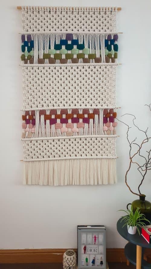 The Twins Apart II | Macrame Wall Hanging by Leonor MacraMaker