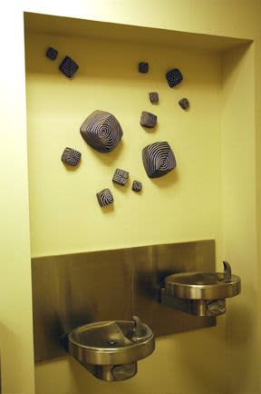Sculptures by Larry Halvorsen at MultiCare Gig Harbor Primary Clinic, Gig Harbor - Wall Cubes Installation