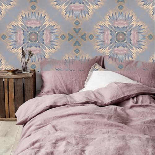 Wallpaper by Julia Sagias - Egyptian Waterlillies Wallpaper