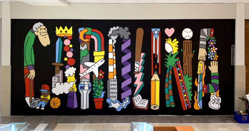 Carolina Mural | Murals by Orlando Soy Yo! | Plaza Carolina in Carolina
