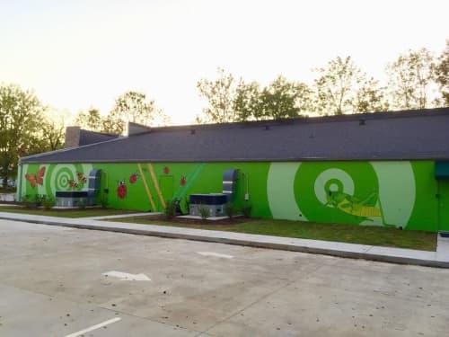 The Bug Man, LLC mural | Street Murals by Ryan Frizzell (The Rhinovirus) | The Bug Man, LLC in Murfreesboro