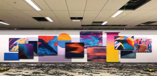 Murals by ANTLRE - Hannah Sitzer seen at Adobe Systems, San Jose - Homage To Santa Cruz