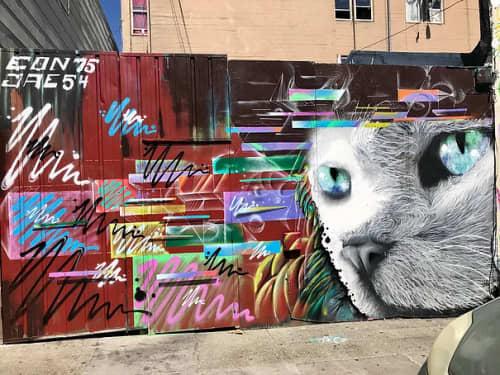 Street Murals by Max Ehrman (Eon75) seen at Sycamore Street, San Francisco - Hello Kitty