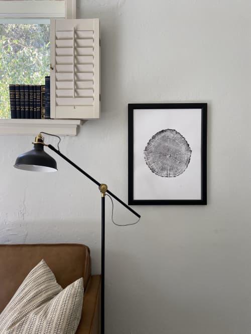 Maine Tree Ring Print, York Maine   Art & Wall Decor by Erik Linton