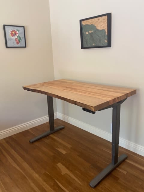 Live Edge Elm Desk with Copper Inlay   Tables by Natural Wood Edge Creations by Rick Griggs