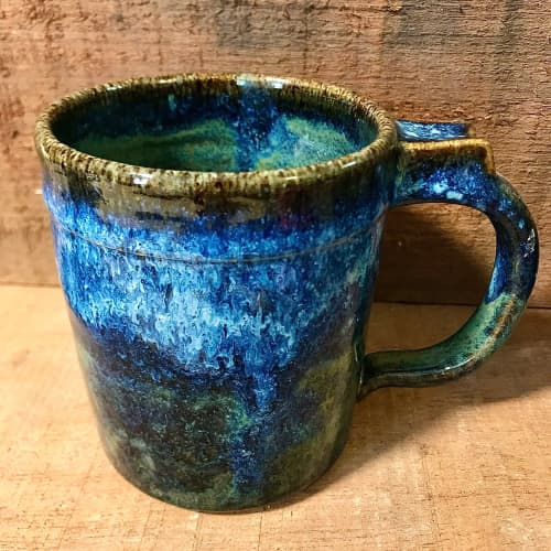 Horizon Mugs, Handmade stoneware   Cups by Honey Bee Hill Ceramics