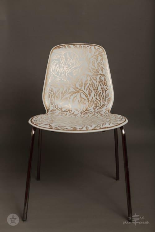 Embellished Ikea LEIFARNE | Chairs by Sean Martorana