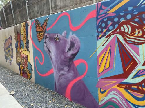 Street Murals by Brittany Johnson Art & Murals seen at 900 S 1st St, Austin - Lion & Butterfly