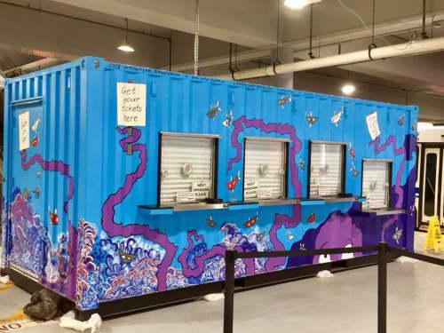 Public Ticket Booth at MTA Nashville, Tn | Street Murals by Ryan Frizzell (The Rhinovirus)