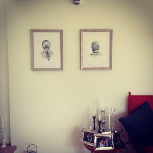 Couple Reversed Portrait   Paintings by Nettie Wakefield