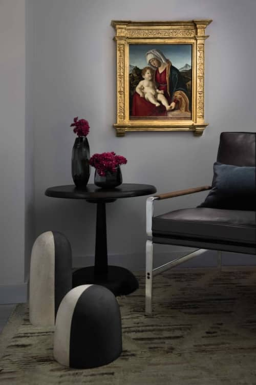 Offset Pedestal Side Table   Tables by Andrew Finnigan
