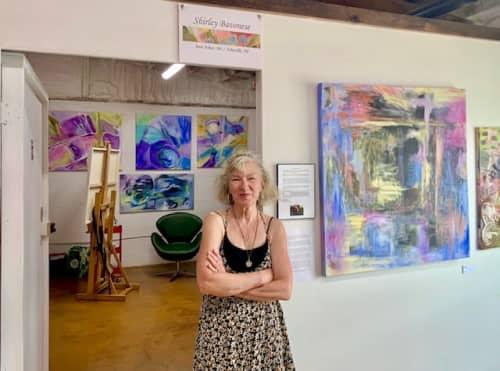 My studio | Paintings by Shirley Bavonese