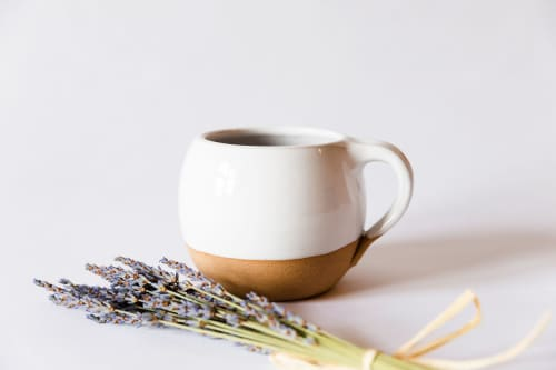 White Rustic Mug | Cups by Tina Fossella Pottery