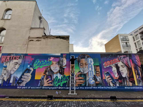 Murals by JAY KAES at East London - HONOR 20 series