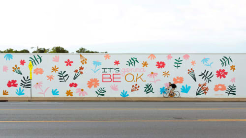 """""""It's Gonna Be O.K."""" Mural   Murals by Sarah Tate"""
