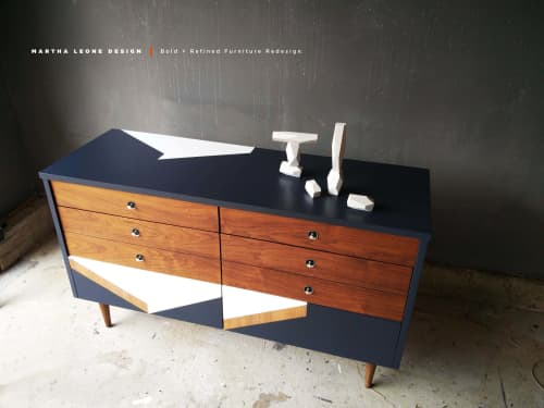 Furniture by Martha Leone Design seen at Private Residence, Boston - Bold Mid Century Dresser