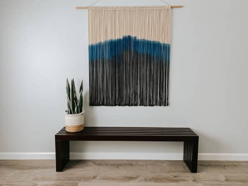Macrame Wall Hanging by Love & Fiber seen at Private Residence, San Diego - Extra Large Dyed Macrame Wall Hanging / Fiber Art