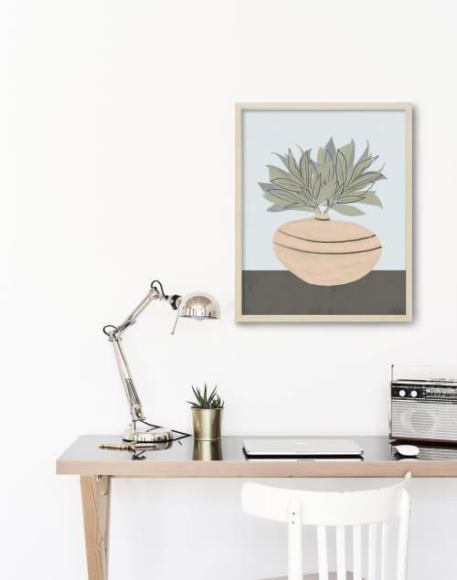 Paintings by Birdsong Prints seen at Creator's Studio, Denver - Botanical Pink Print Art
