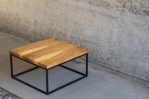 Book-matched Ash Coffee Table   Tables by Hazel Oak Farms