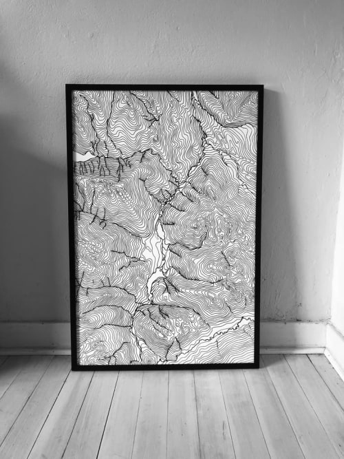 Map of Whistler | Art & Wall Decor by Erik Linton | Whistler in Whistler