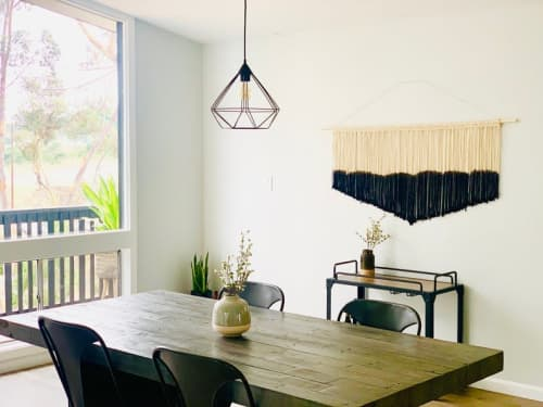 Wall Hangings by Love & Fiber seen at San Diego, San Diego - Large Modern Black Dyed Macrame Wall Hanging