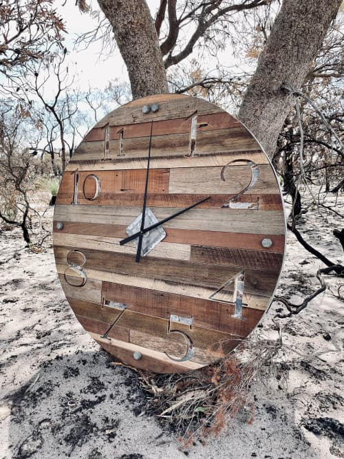 Rustic Hardwood Clock | Art & Wall Decor by Girl In Her Shed