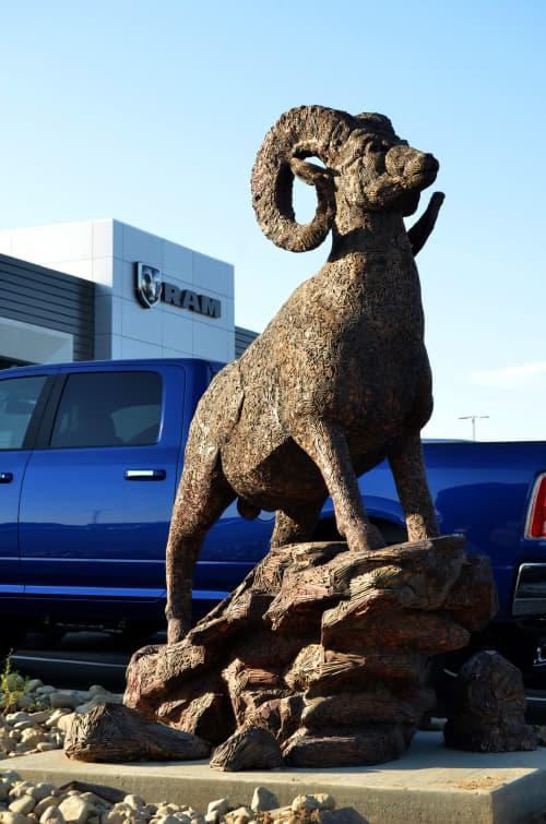 Public Sculptures by Andrew Miguel Fuller •Sculpture - Ram of the West