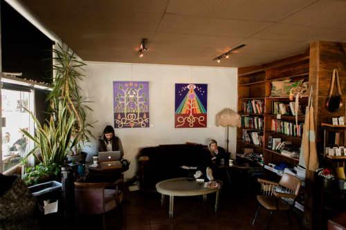 The Two of Flowers   Paintings by Jillian Selene Art   Shades of Brown Coffee & Art in Tulsa