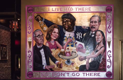 I Live Up There   Paintings by Tom Sanford   UES. in New York
