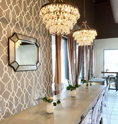Interior Design by Jenna Nicole Interiors at Flavor Cupcakery & Bake Shop, Bel Air - Commercial Design Project