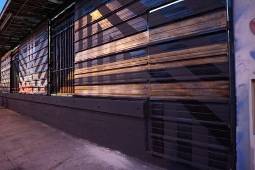 Street Murals by Ryan Campbell seen at Private Residence, Los Angeles - Line Segments number 40