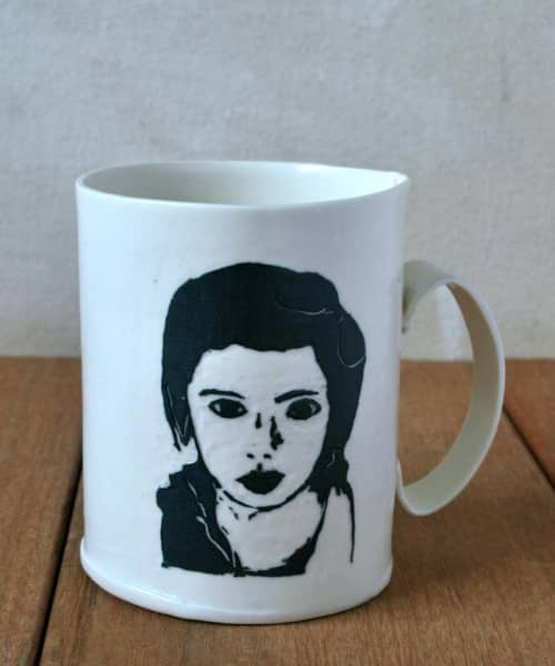 White Porcelain Coffee Mug   Cups by ShellyClayspot
