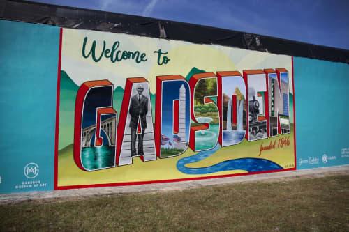 Gadsden Postcard Mural | Murals by Ali Hval