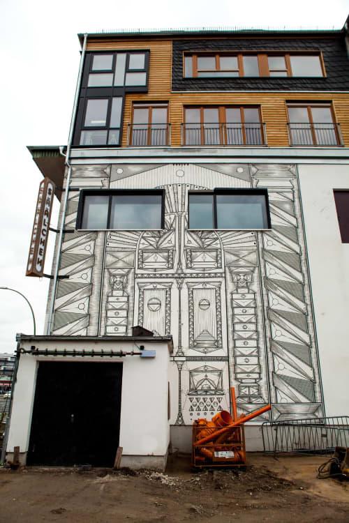 Murals by Isakov seen at Säälchen, Berlin - Holzmarkt Mural