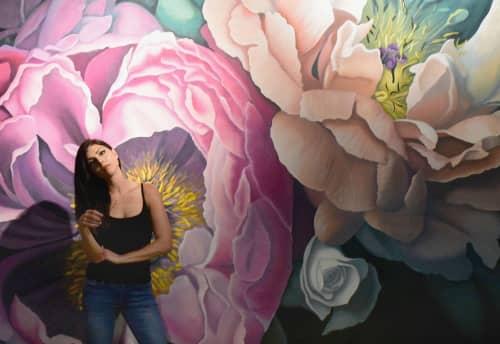 Bohemian Blooms Mural | Murals by Nicolette Atelier | Pinstripes in Beachwood