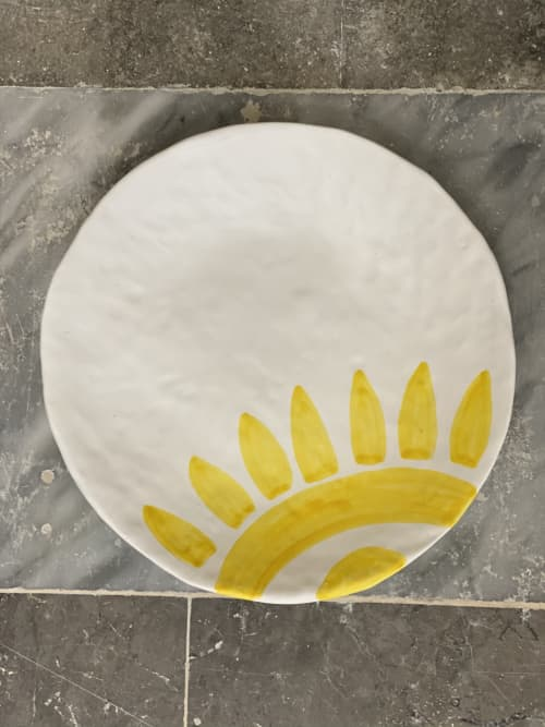 Ceramic Plates by Patrizia Italiano seen at Creator's Studio - Big plate the Sun