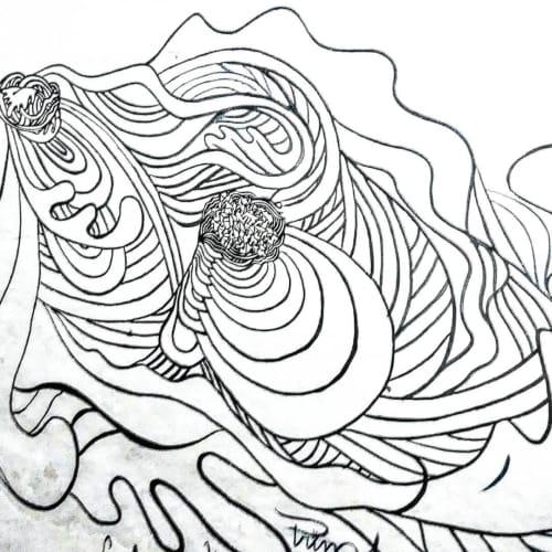 Black and White Art   Murals by Paul Santoleri   Universidad Nacional Diego Quispe Tito in Cusco