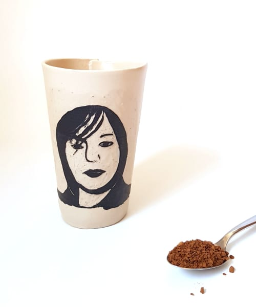 Portrait Coffee Tumbler | Cups by ShellyClayspot