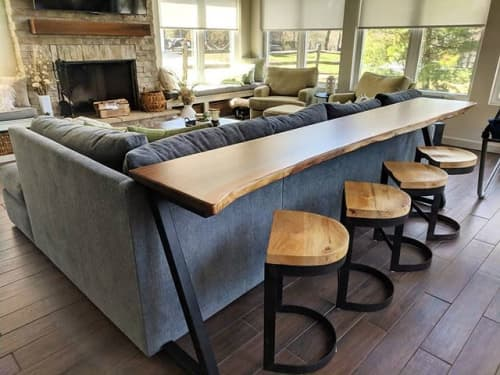 Tables by Cincinnati Wood Collaborative - Live Edge Walnut Sofa Table