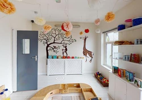 Murals by York Design Studio at Goslings Nursery, London - Nursery Feature Wall & Web Graphic Design