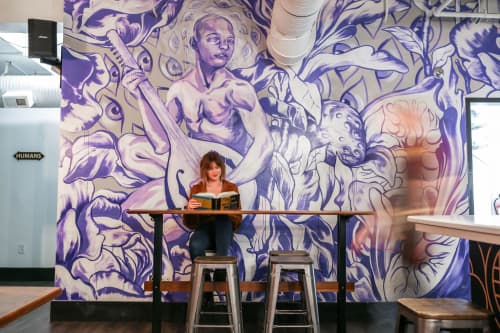 Eden at Raleigh Raw | Murals by Taylor White | Raleigh Raw Juice Bar & Cafe in Raleigh