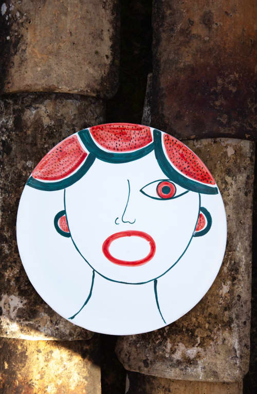 Ceramic Plates by Patrizia Italiano seen at Creator's Studio - Riccardo plate only decor