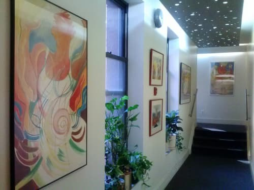 Paintings by Janet Morgan seen at 11 Sterling Place, Brooklyn, NY, USA, Brooklyn - The Pregnant One, Watercolor