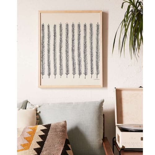 Wall Hangings by Little Korboose seen at Private Residence, Philadelphia - Feather   Framed Textile 18x24