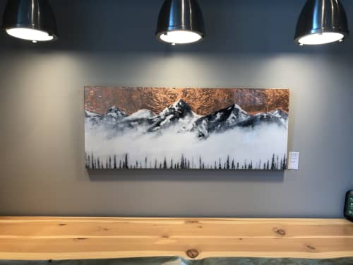 Paintings by Aimy Van der linden seen at Good Earth Coffeehouse - Centennial Place, Calgary - Exemplum