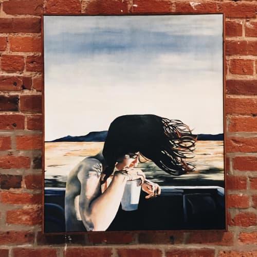 Girl in the Truck   Paintings by Saegan Swanson   COCO + MISCHA in Atlanta
