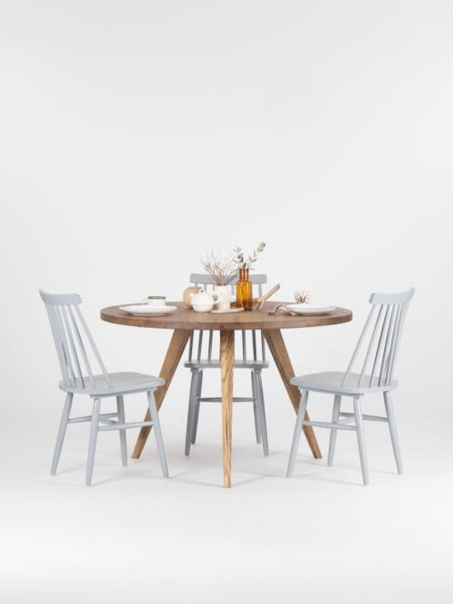 Reclaimed round wood table, handmade dining table   Tables by Mo Woodwork   Stalowa Wola in Stalowa Wola