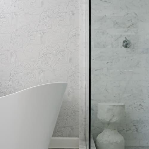 Wallpaper by Jill Malek Wallpaper - Sandstone   Silver Rock