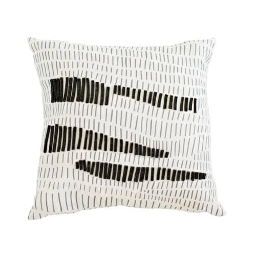 Pillows by Jill Malek Wallpaper - Terrains Pillow | Charcoal