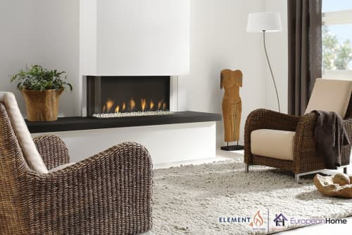 Fireplaces by European Home seen at Private Residence, Boston - Trisore 95 3-Sided gas Fireplace